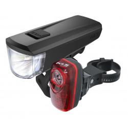 Zestaw lamp rowerowych KLS...